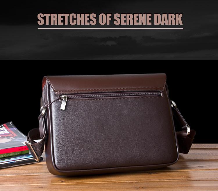 New Arrived luxury Brand men's messenger bag Vintage leather shoulder bag Handsome crossbody bag handbags Free Shipping 18