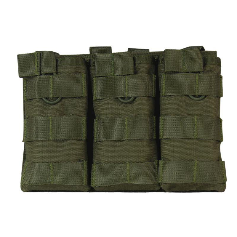Tactical MOLLE Triple Open-Top Magazine Pouch VELOCE AK AR M4 Mag Pouch 1000D Nylon Militare FAMAS Attrezzature Paintball