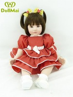 24inch 60cm reborn babies dolls NPK princess toddler dolls sweet short hair doll vivid realistic children play house toy gift
