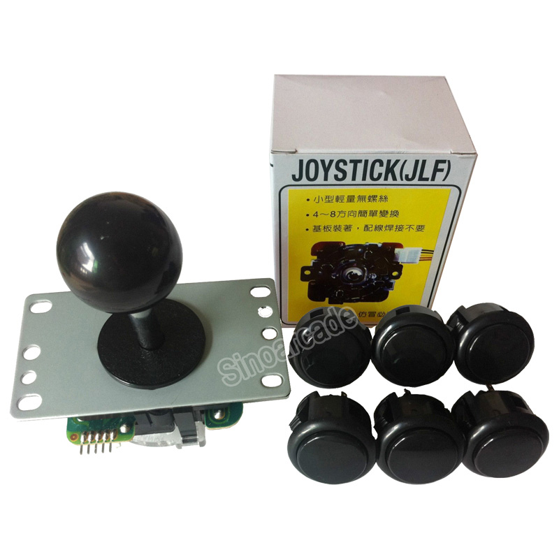 Original Sanwa Joystick JLF-TP-8YT with 6 OBSF-30 Buttons for arcade jamma game kit sanwa button and joystick use in video game console with multi games 520 in 1
