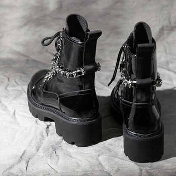 Snow Ankle Boots woman 2019 new Women\'s Winter Boots Shoes Luxury Black Genuine Leather Buckle Decoration Brand Fashion Style