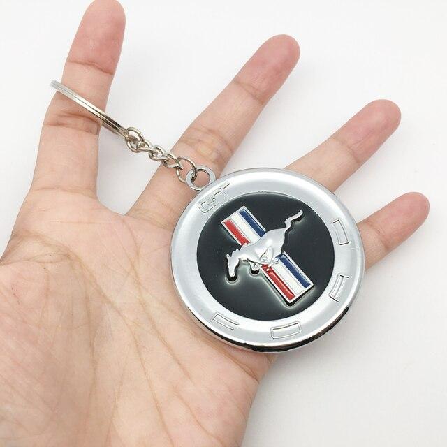 """ANTINIYA металлическая, для машины Новый 3D эмблема """"лошадь"""" знак брелок Ford Mustang GT 500 Cobra Shelby автомобильные аксессуары"""
