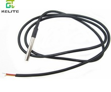 1pcs DS18B20 Stainless steel package 1 meters waterproof DS18b20 temperature probe temperature sensor 18B20(China)