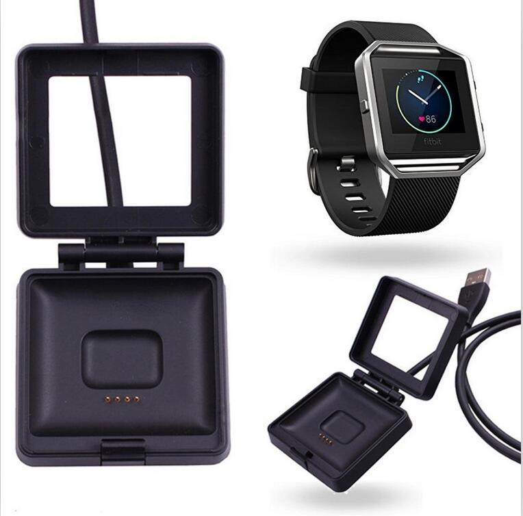 DHL New Arrival USB Power Charging Cradle Black Charger Dock Micro USB Cable for Fitbit Blaze