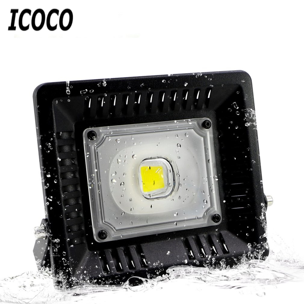 ICOCO Waterproof 30W 50W LED Powerful Floodlight Outdoor Lighting Street Lamp Reflector Garden Landscape Lamp Drop Shipping Sale