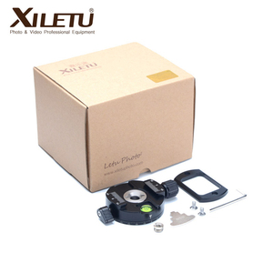 Image 4 - XILETU XPC 60 360 Degree Panoramic Clamp Aluminum Alloy Adapter Quick Release Plate Tripod DSLR Photography Accessory Only 145g