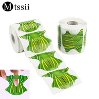Mtssii 500 Pcs Nail Paper Support for Manicure New Nail Art Tools Professional Green Paper Support Nail Extension Finger Tools