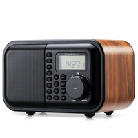 K531 Wireless Wooden Bluetooth Audio Radio USB Card Speaker Portable MP3 Music Player Retro Subwoofer Timing Alarm Clock