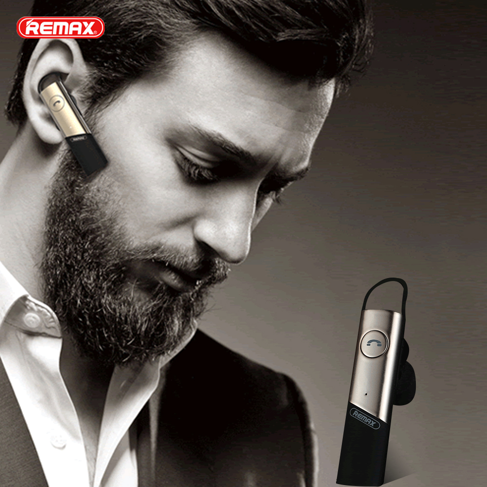 Remax RB-T15 Bluetooth 4.1 Headset Wireless Earphone Voice Prompt Hands-free Earbuds Music Earpiece for Smartphone Free Shipping