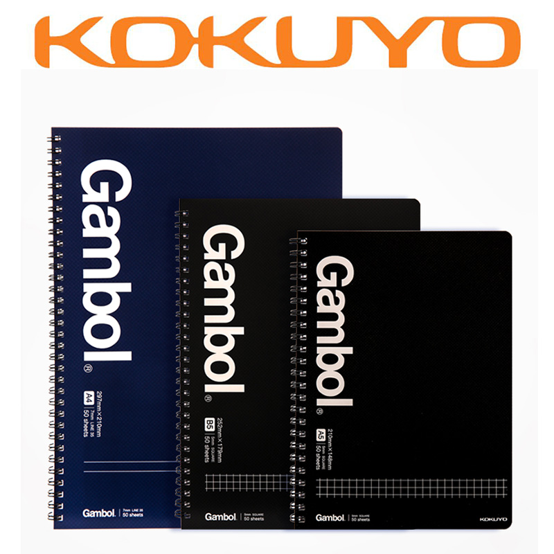 KOKUYO Gambol Spiral Notebook Stationery Business Checks/line Notepad WCN-GTN 2pcs japan kokuyo watanabe notepad spiral vertical notebook a5 60 sheets coil shorthand book wcn ctnb610