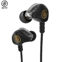 BGVP DS1 New Hybrid Earphone 3 5mm MMCX HiFi Earphones Dual Balanced Armature 3 Unit Earphones