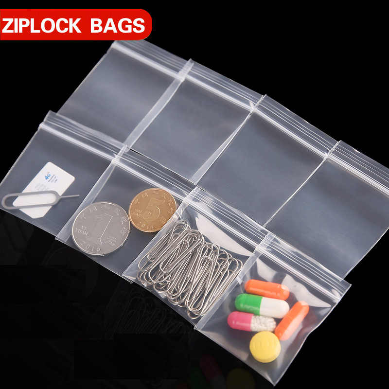 Small Plastic Zipper Bag Thick 0.12mm Ziplock Pill Packaging Pouches Multiple Size Zip lock Bags Plastic Packaging Storage Bags