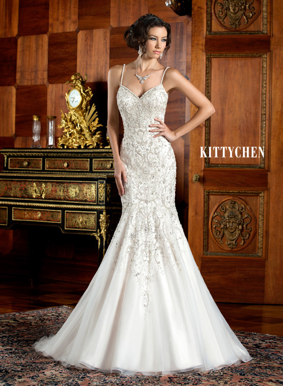 luxury mermaid wedding dresses sparkly silver rhinestones beading