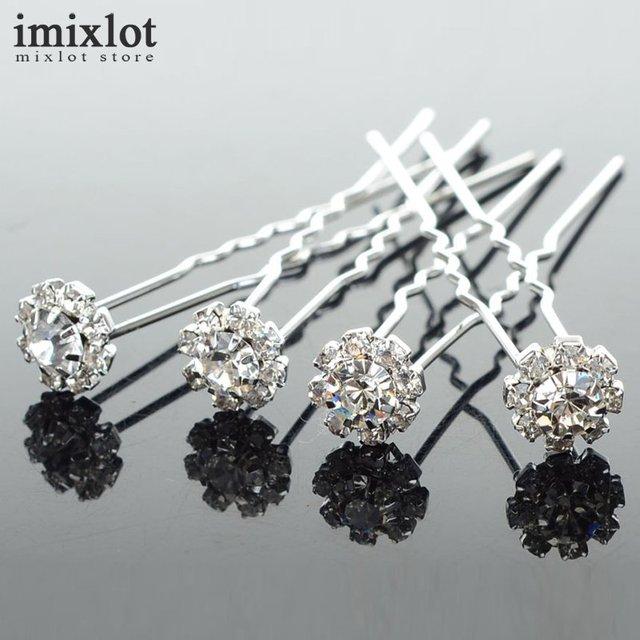 ce8445bb10 US $4.99  20 Pcs Wholesale Flower Design Clear Crystal Hair Clips Wedding  Bridal Pearl Hair Pins Bridesmaid Jewelry Women Hair Accessories-in Hair ...