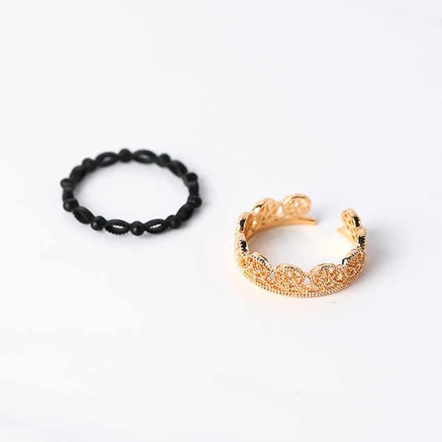 2017 เกาหลีแหวนบุคลิกภาพ VINTAGE Hollow Lace แหวนแฟชั่นเครื่องประดับนิ้วมืออุปกรณ์เสริม
