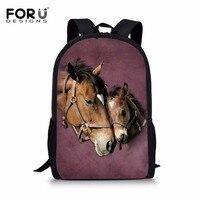 ef249a0409d5b FORUDESIGNS Children School Backpack Cool Horse Design For Toddler Girls  Boys Kids School Bags Student Bookbag