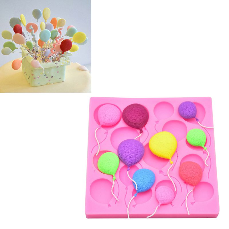 1PCS Balloon Shaped Food Grade Silicone Soap Chocolate Cake Silicone Cake Molds Fondant Cake Decorate in Cake Molds from Home Garden