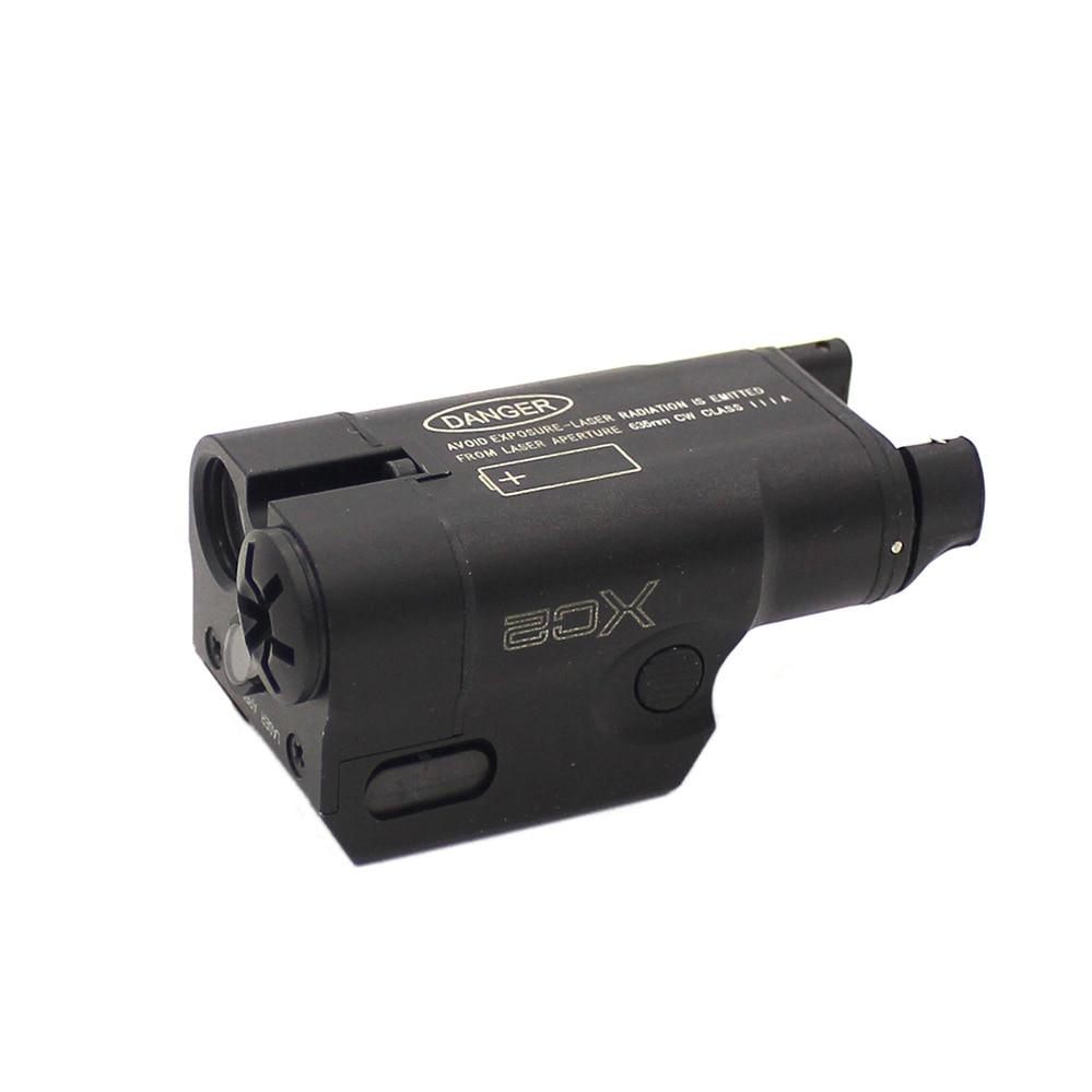 Tactique XC2 Arme Légère Compact Glock Pistolet lampe de Poche Avec Red Dot Laser LED MINI Lumière Blanche 200 Lumens Airsoft lampe de Poche