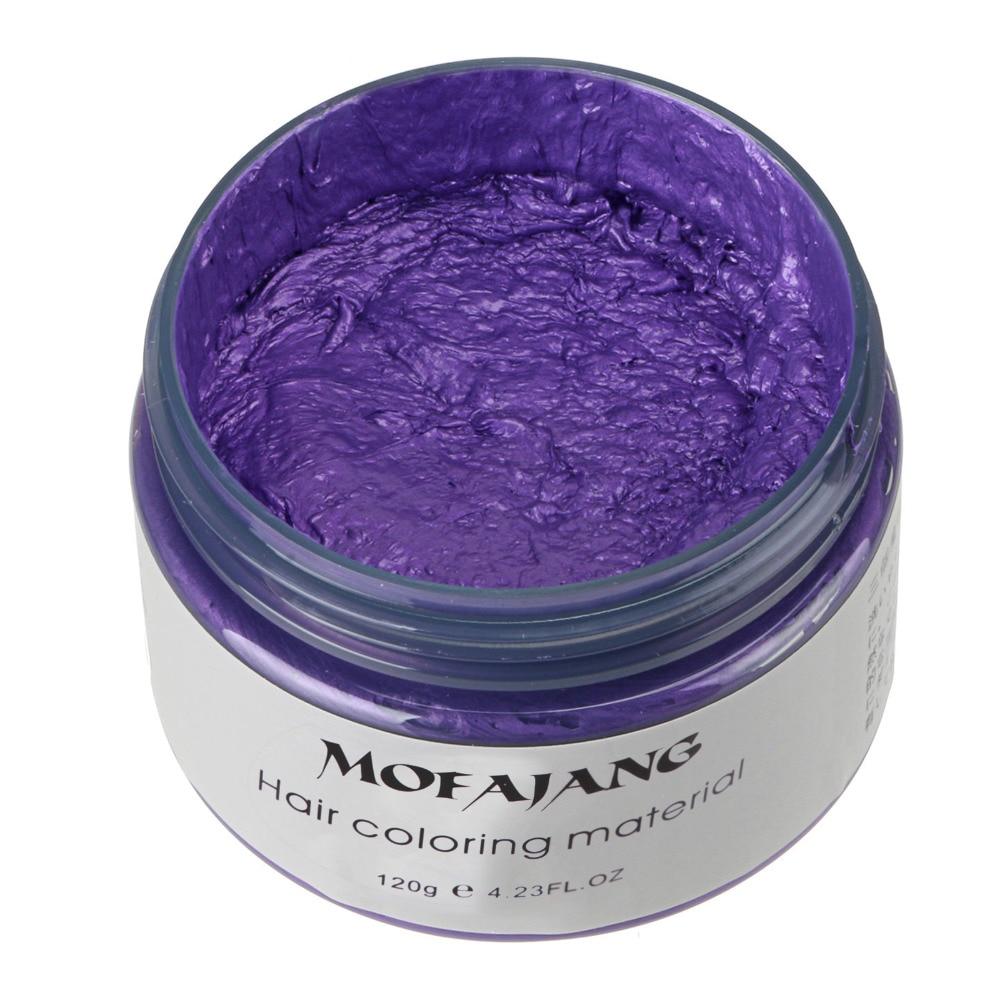 Купить с кэшбэком MOFAJANG Unisex DIY Hair Color Wax Mud Dye Cream Temporary Modeling 7 Colors Available