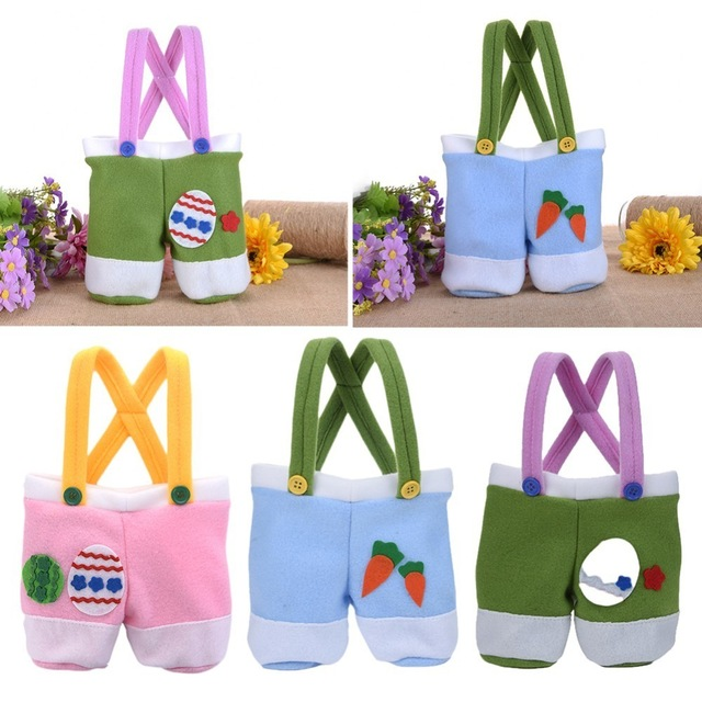 3pcs suspender design easter candy bag easter baskets for kids gifts 3pcs suspender design easter candy bag easter baskets for kids gifts festival new year craft supplies negle Images