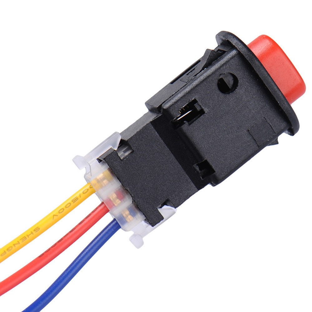 New Motorcycle Switch Hazard Light Switch 3 Wires Built in Lock ...