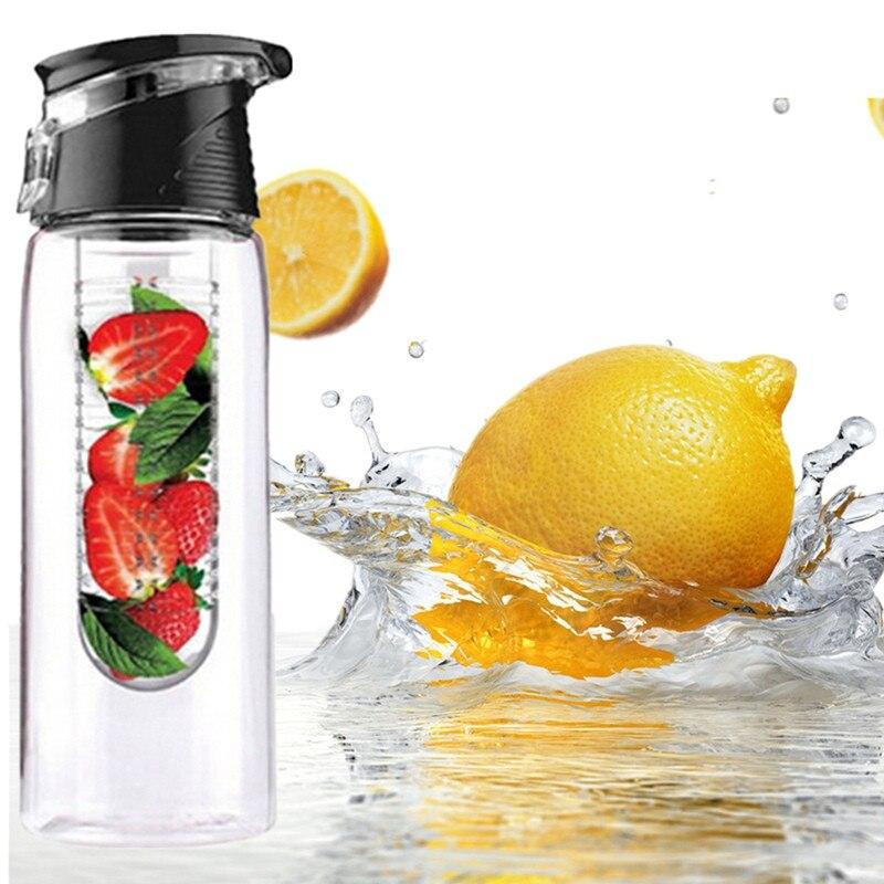 800 ML Vélo Sport Fruits Infuser L'eau Citron Bouteille Fruits Infuseur Bouteille D'eau Cleanse Detox Santé Vitamine Jus Bouilloire Cruche