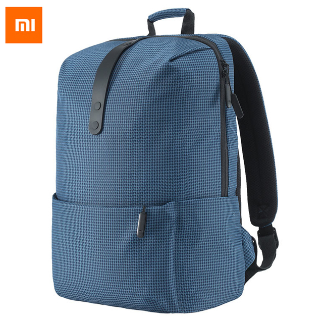c74848dca0f5 Original Xiaomi Fashion School Backpack Bag 600D Polyester Durable Bags  Suit For 15.6 Inch Laptop Computer Freeshipping
