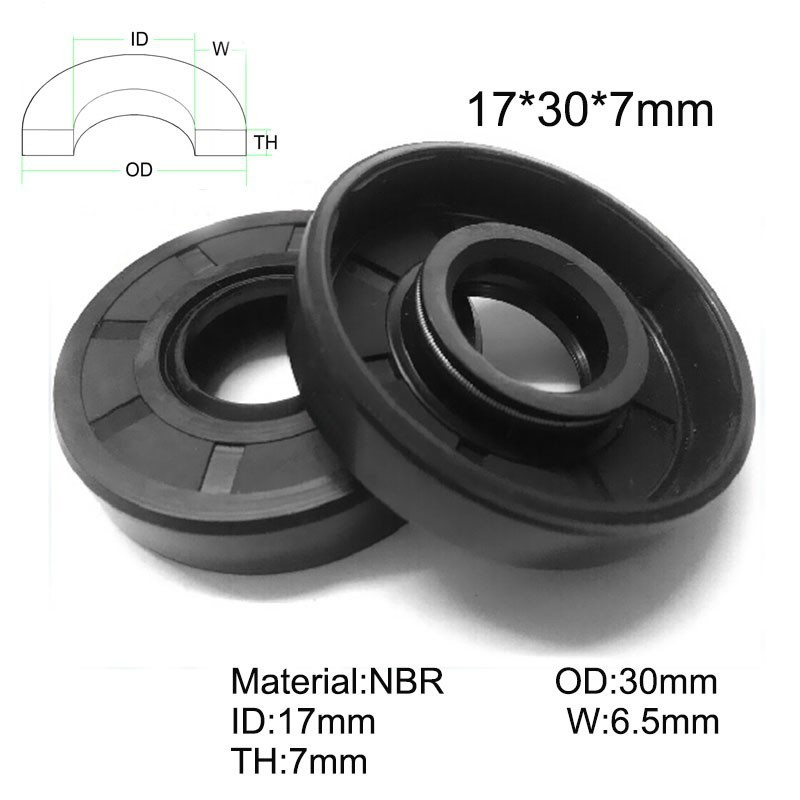 Rotary shaft oil seal 17 x 26 x pack height, model