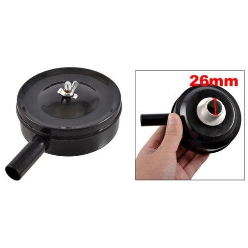 WSFS Hot 1 PT Male Thread Metal Air Compressor Silencer Filter Muffler Black 5pcs solenoid valve pneumatic filter silencer sintered bronze 1 4 pt thread muffler filter