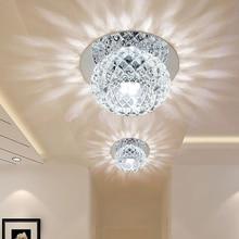Dikale Modern chandelier ceiling lamp Crystal Lighting Ceiling Chandeliers Creative LED Ceiling Recessed Lamp for Hotel Home все цены