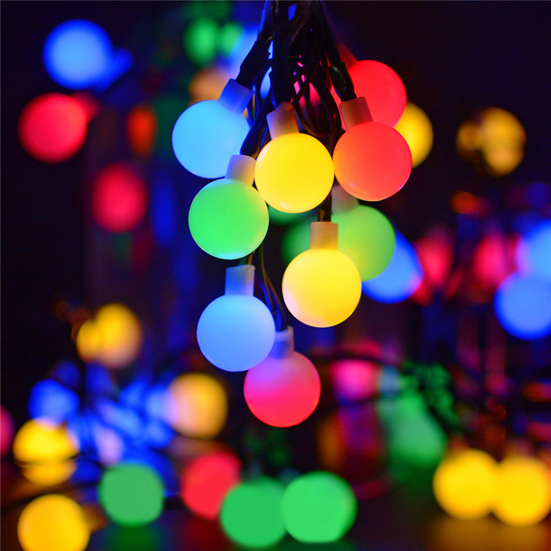 Solar Globe 50 LED Ball String Lights Solar Power Patio Lights Christmas Light Lighting for Home Garden Lawn Party Decorations yiyang xmas tree solar power string lights led waterproof fairy fence home garden patio string light lawn christmas lamps