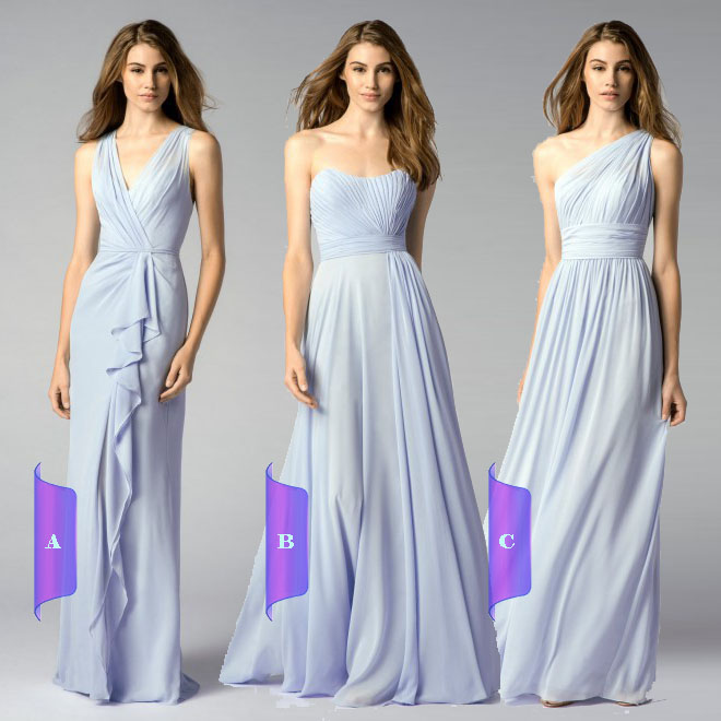 Online Buy Wholesale dusty blue bridesmaid dresses from