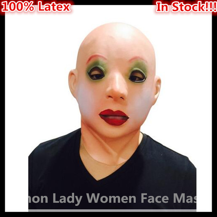 Livraison gratuite Halloween Party Cosplay Réaliste Femelle Masque En Caoutchouc Latex Partie Déguisement Latex maske Transgenres Seconde Peau Masque