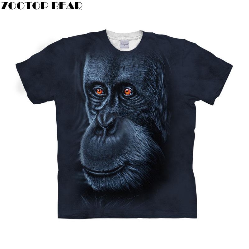 Anime Ape tshirts Men T shirt 3D t-shirt Short Mens Tees Summer Tops Harajuku Camiseta Streetwear Clothing Drop ship ZOOTOP BEAR