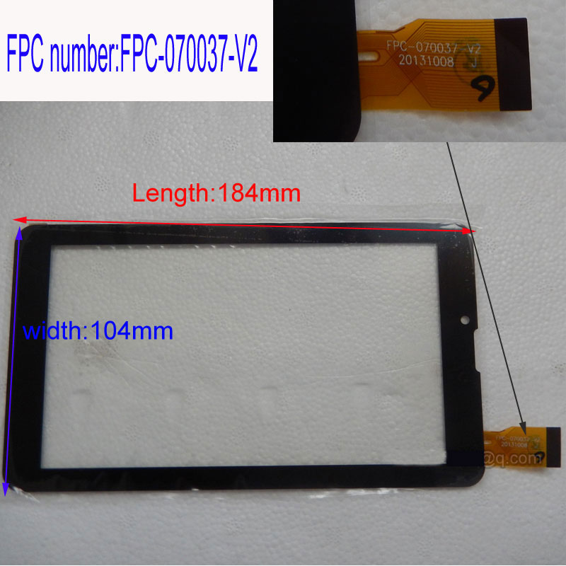 1pcs/lot  7inch  Tablet  Touch Screen   screen number FPC-070037-V2 запчасти для мобильных телефонов 7 inch new handwriting tablet capacitive touch screen screen screen number is sg5740a fpc v3 1 sg5740a fpc v3 1