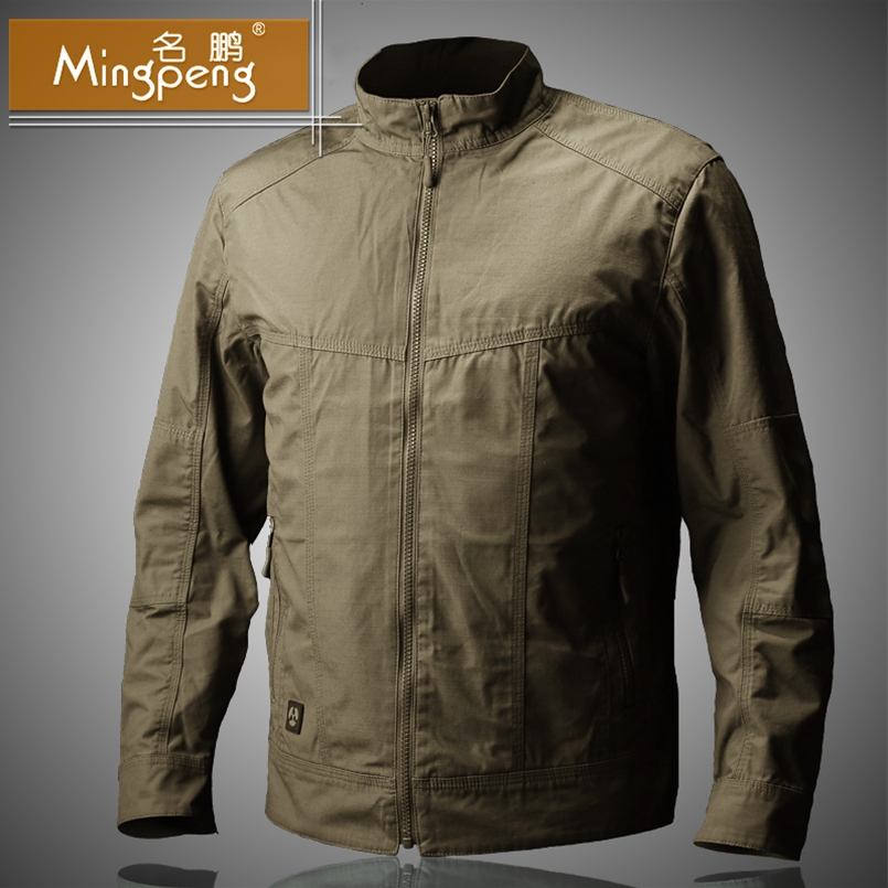 Spring Autumn Windproof Jackets Mens Military Style Field Tactical Outwear Waterproof Casual Bomber Pilot Coat