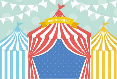 how to make a circus tent backdrop