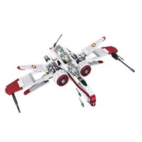 LELE 35004 Star Wars Space Battle Captain Jag Clone Pilot R4 P44 ARC 170 Fighter Assembled