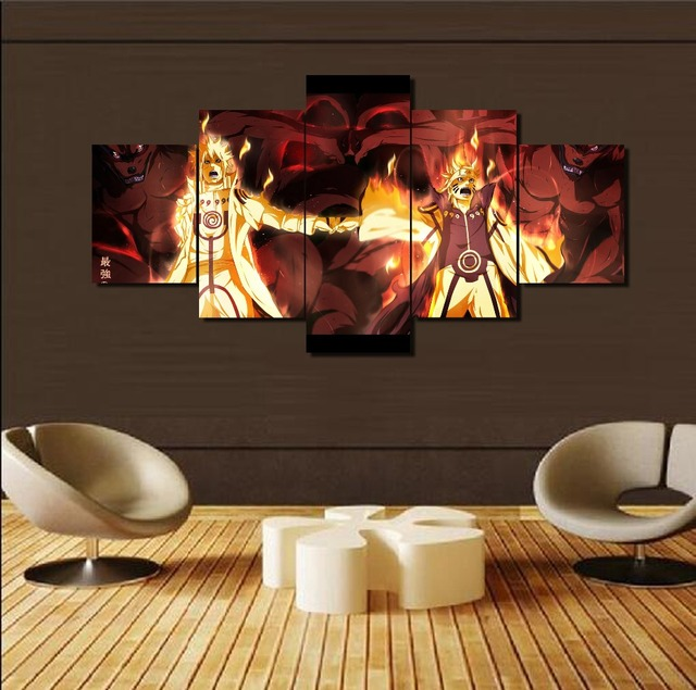 Naruto 5 Panels Canvas Art