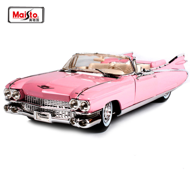 Maisto 1:18 1959 Cadillac ELDORADO BIARRITZ Diecast Model Car Toy New In Box Free Shipping 500K Old Car 36813 maisto bburago 1 18 1959 jaguar mark 2 ii diecast model car toy new in box free shipping