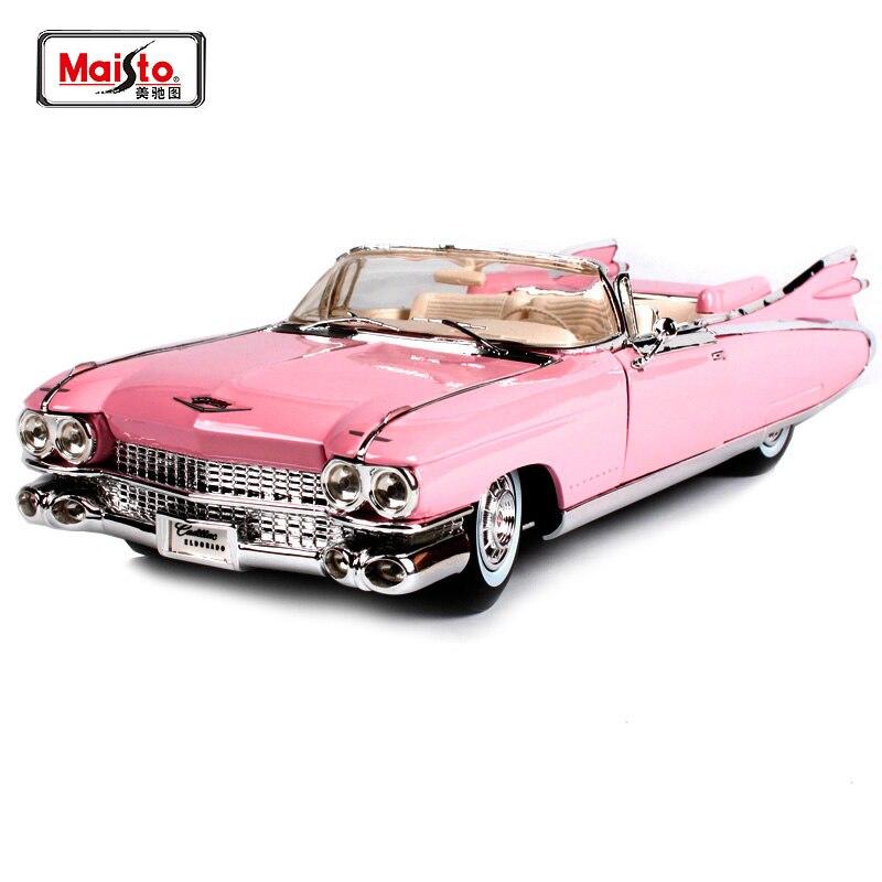 Maisto 1:18 1959 Cadillac ELDORADO BIARRITZ modèle de voiture moulé sous pression jouet nouveau dans la boîte livraison gratuite 500 K voiture ancienne 36813