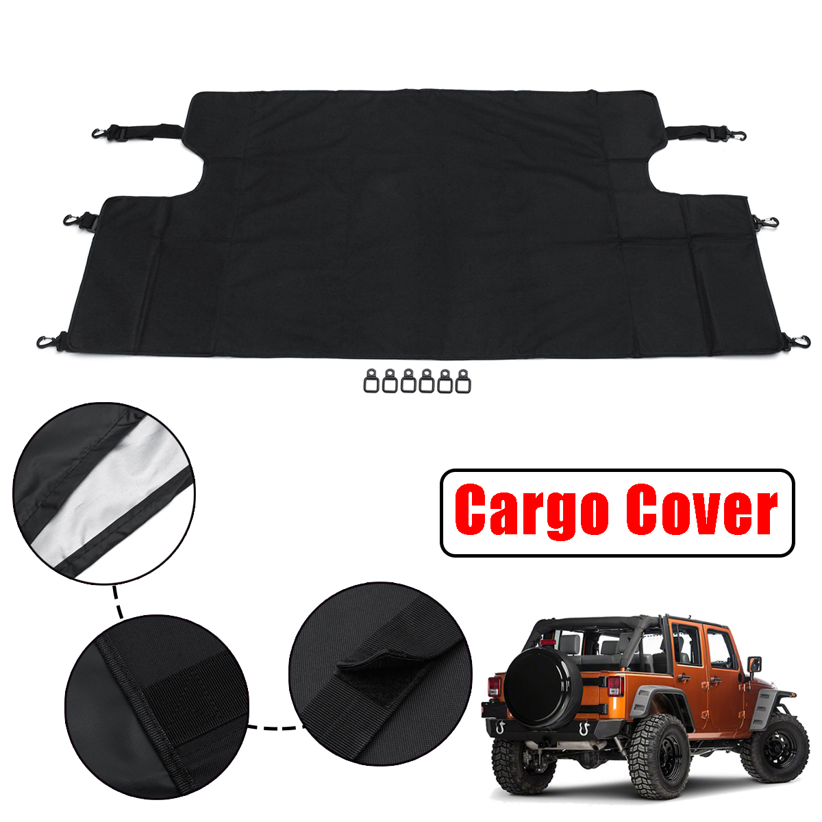 Car Trunk Cargo Luggage Shade Cover For Jeep Wrangler Jku