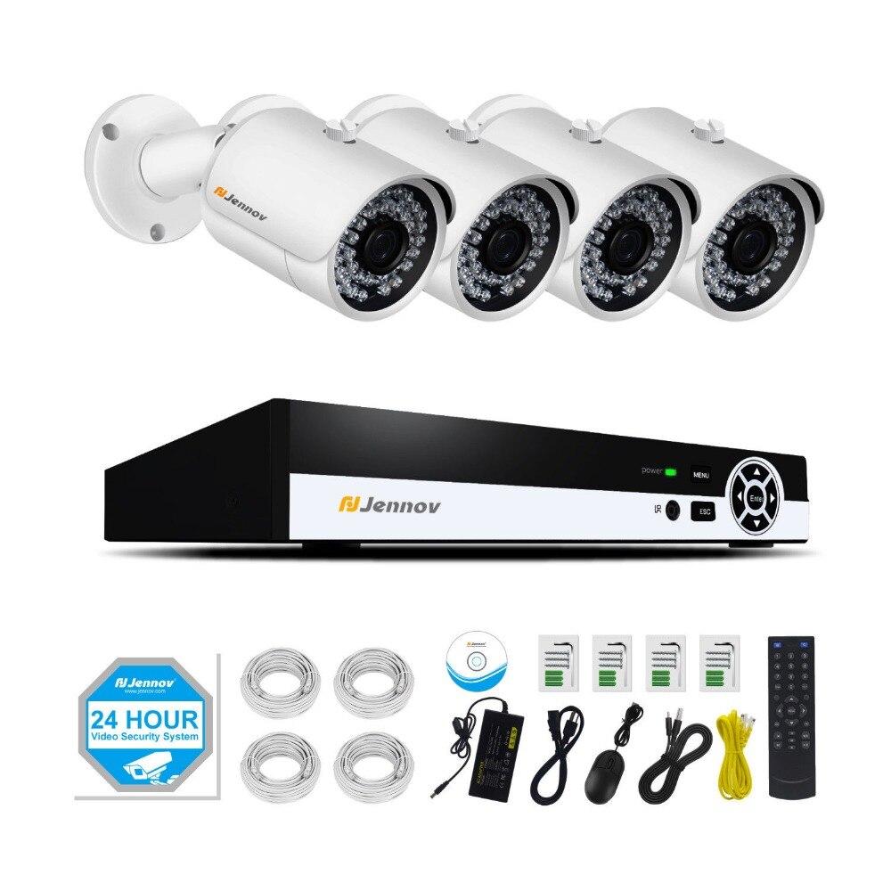 4CH POE 1080 P 2MP Telecamera di Sicurezza A Casa Con La Luce del Led Video Kit Sistema di sorveglianza CCTV Set NVR ip Camera Outdoor ip Cam IR