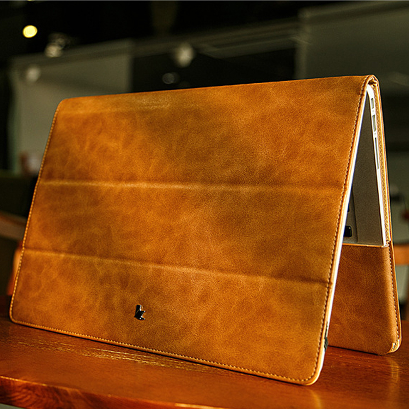 2017 PU Leather Protect Sleeve Laptop Stand Case Cover For MacbooK Air 13 11 Pro 13 Retina 12 soyan pu laptop sleeve envelope bag for macbook air pro retina 11 12 13 15