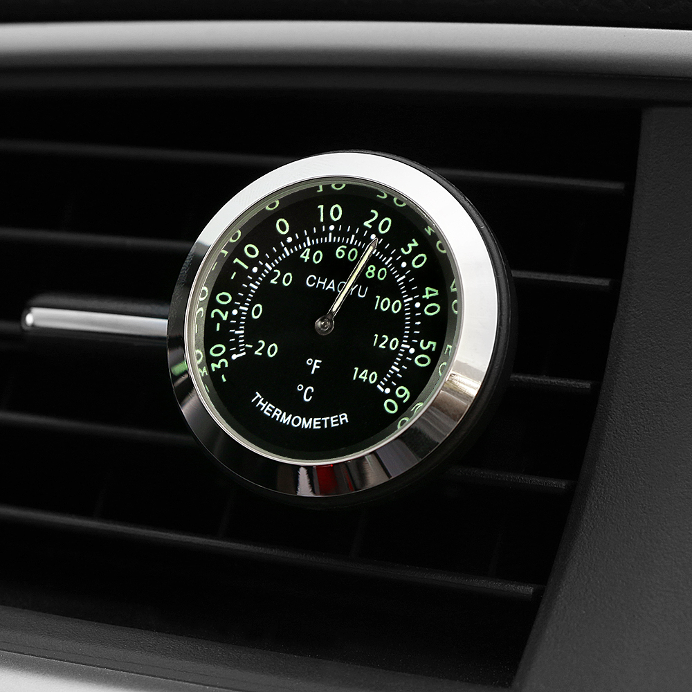 Car Ornament Automotive Decoration Thermometer Air Vents Outlet Clip Charms Fashion Automobiles Interior Decor Accessories Gift car outlet perfume air freshener with thermometer lime