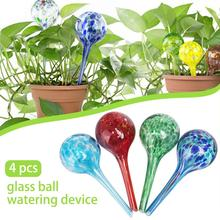 4Pcs 6*15CM Watering Device Globe Mini Decorative Color Glass Ball Automatic Sprinkling Light Hand Blowing Plant Bulb #