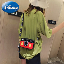 Disney Women Crossbody Bags 2019 Mickey Minnie Camera Shoulder Bag PU Fashion Transparent  Messenger Handbag Waterproof Plush