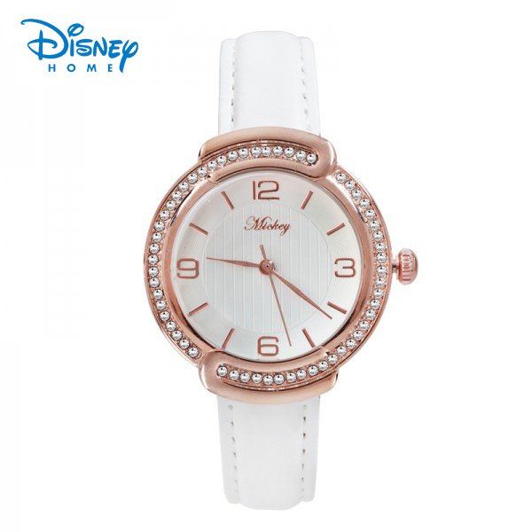 100% Genuine Disney watch Luxury Women Brand Fashion Quartz Watch Leather Watch Women Casual Clock relogiofeminino 95002-1