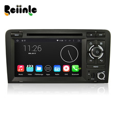 Beiinle Car 2 Din 1024*600 16G Android 4.4.4 QUAD CORE  DVD GPS Radio Stereo Navigator for Audi A3  S3 2003-2011