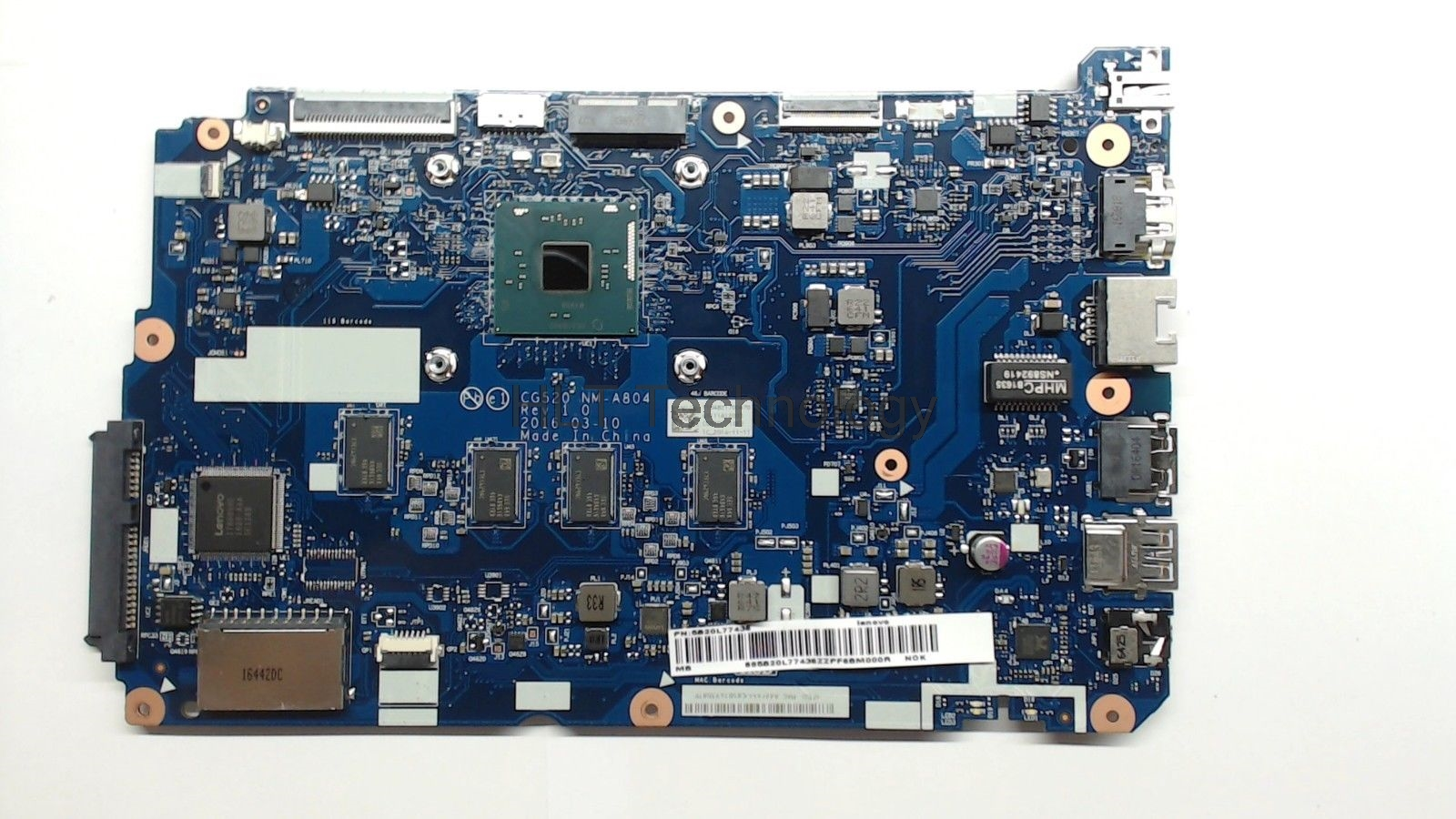 HOLYTIME laptop <font><b>motherboard</b></font> For <font><b>lenovo</b></font> <font><b>ideapad</b></font> <font><b>110</b></font>-15IBR CG520 NM-A804 5B20L77440 Main board SR2KN N3060 CPU 4G RAM DDR3 image
